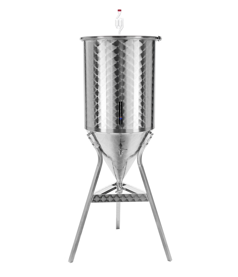 Conical bottom beer fermenters 60 ° in stainless steel