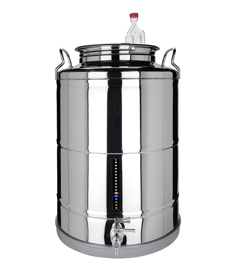 Stainless steel beer fermenter drum