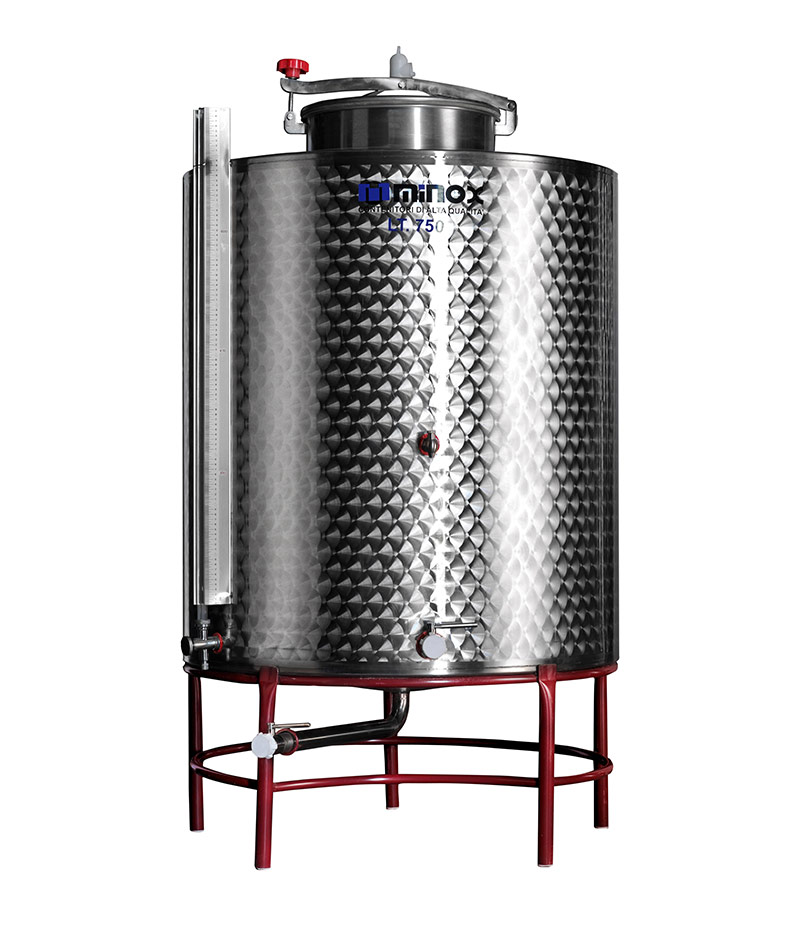 stainless-steel-containers-for-storage-wine-conical-bottom hobby-line
