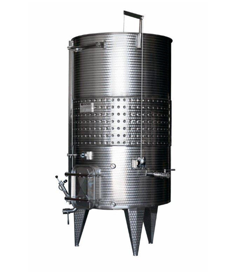 Stainless steel wine container sloped bottom: Variable capacity