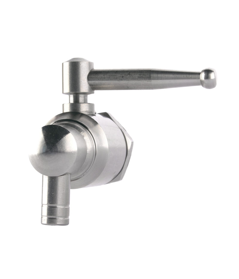 Taps for stainless steel drums: stainless steel lever 1/2